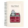 personalised recipe book with range cooker illustration
