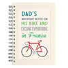 Personalised Communique Bike Design Wire Bound Lined Notebook