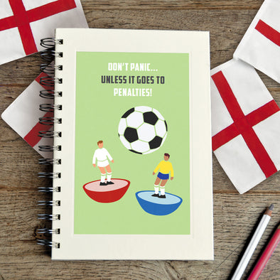 Football notebook with personalised text