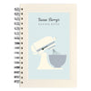 Personalised recipe notebook with red mixer illustration