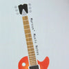 Music notes notebook with personalisation and guitar illustration