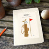 Personalised Retro Golf Hardback Lined Notebook