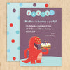 Monster party invitations with personalised text