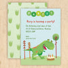 dinosaur children's party invitations with personalised text