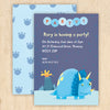 Personalised Dinosaur Party Invitations With Triceratops Design