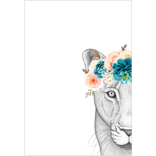 A3 Linda the Lioness with Flower Crown (limited addition)