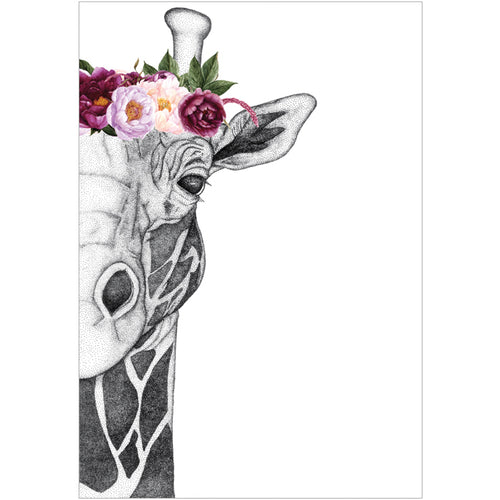 A4 Georgi the Giraffe with Flower Crown - Pink (limited addition)