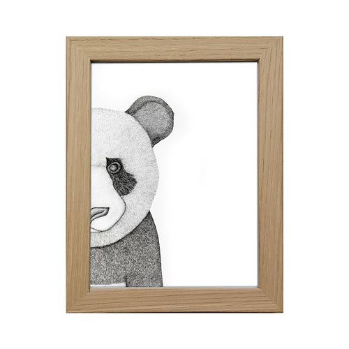 Framed 5x7 Timber Frame - Pete the Panda (limited addition)