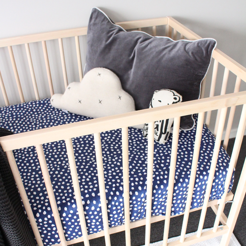 'Ink' Fitted Cot Sheet