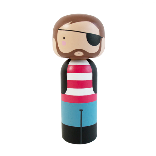 Pirate Kokeshi Doll