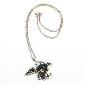 Toothless Night Fury Train Your Dragon Necklace