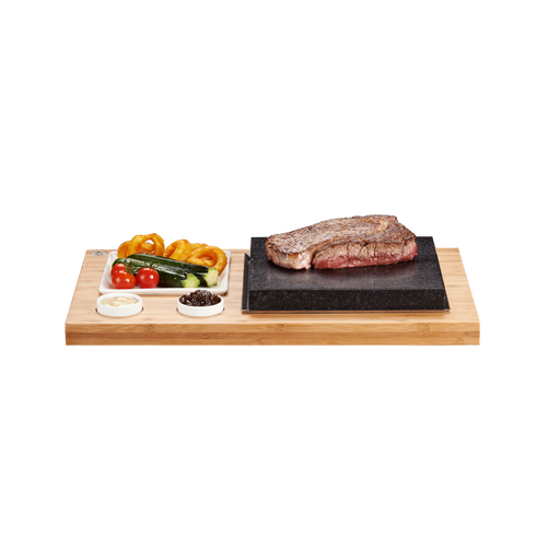 SteakStones Steak Plate & Sauces (One Person Set)