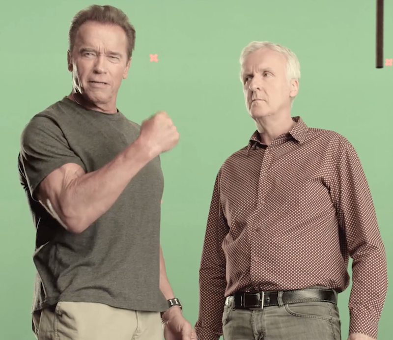 Arnold Schwarzenegger and James Cameron want you to eat less meat
