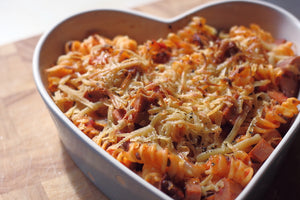 Vegan Sausage and Tomato Pasta Bake