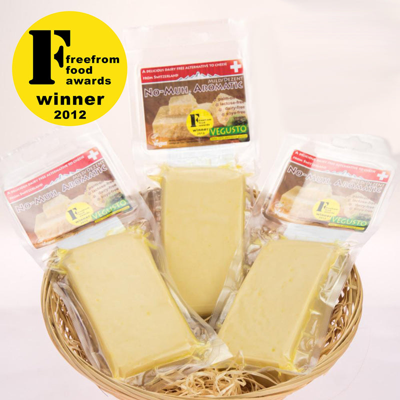 Dairy-Free Cheese | No-Moo Mild-Aromatic 3-Pack | Vegan