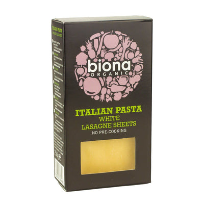 Lasagne Pasta Sheets - Organic White Wheat -  Biona - 250g