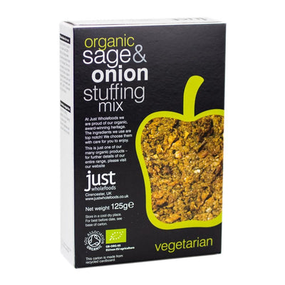 Vegan Stuffing Mix - Sage and Onion - Just Wholefoods - 125g