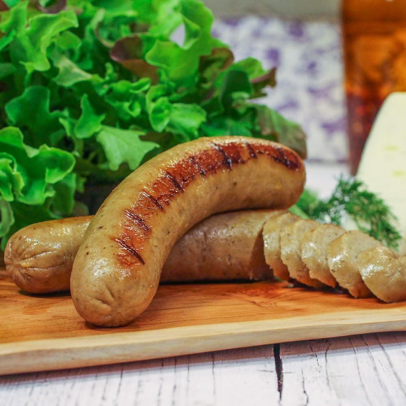 Herb (Marjoram) Vegan Sausage - Firm to the bite, herby and aromatic
