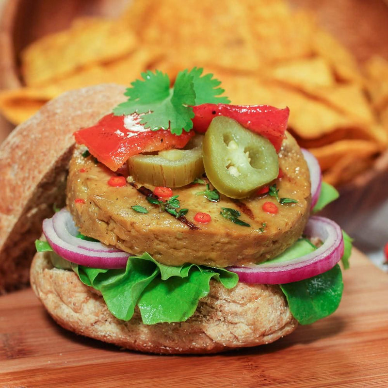 Mexican Vegan Burger - Distinctly Mexican spiced - medium hot