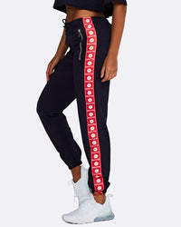 Logo Track Pants - Navy with Red and White