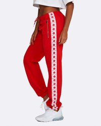 Logo Track Pants - Red with White