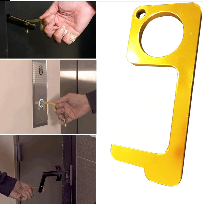 Antimicrobial Brass EDC Door Opener