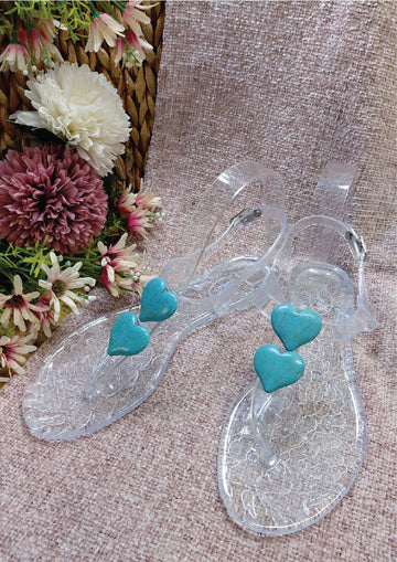 Cupid Turquoise Double Heart