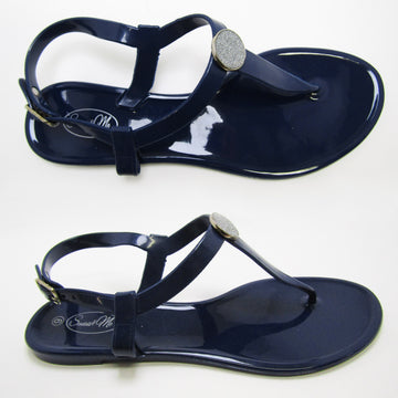Saint Claire Glossy Navy Sandal- Glitter Stud