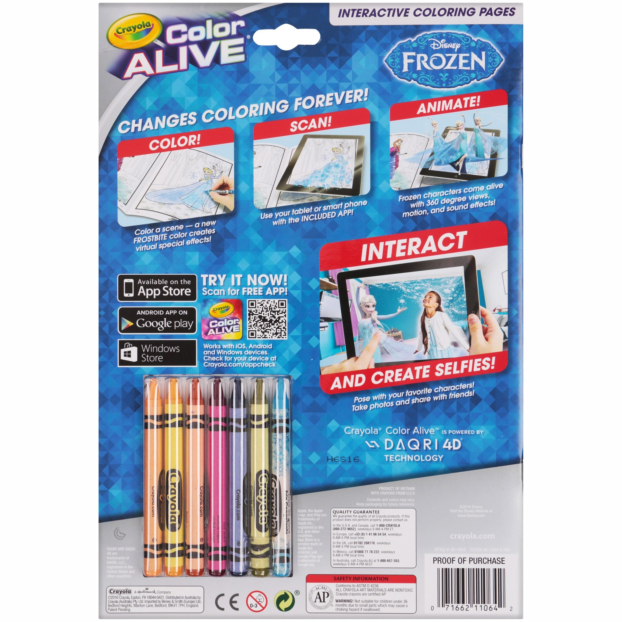 Lot of 2 Crayola Color Alive Disney\'s Frozen 16 Coloring Pages and 7 ...