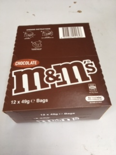 M&Ms chocolate 49g packs 12 in a box