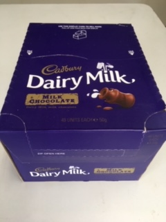 Cadbury Dairy Milk 50g bars 48 in a box