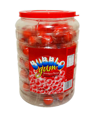 Bubblo Gum Jar 125 piece tub Red