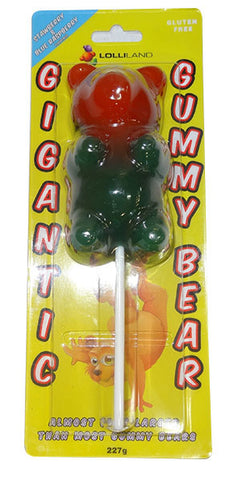 Giant Gummi Bear Lollipop 227g