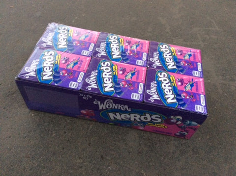 Wonka Nerds grape and strawberry 24 packs in a box