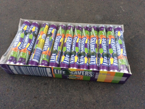 Life Savers- Fruit Pastilles 34g ,24 rolls in a box.