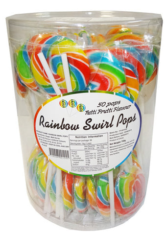 Swirl Pops Rainbow 50 pack