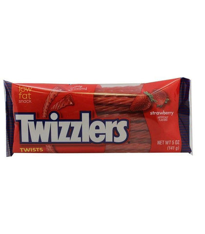 TWIZZLERS TWISTS - MOVIE PACK - STRAWBERRY (141G PACKS)