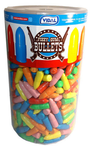 Fizzy Gum Bullets 600 piece Jar