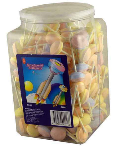 Sweetworld Lollipops 200 Bulk pack