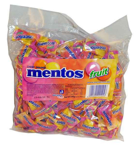 Mentos Fruit Pillowpack 540g Bag