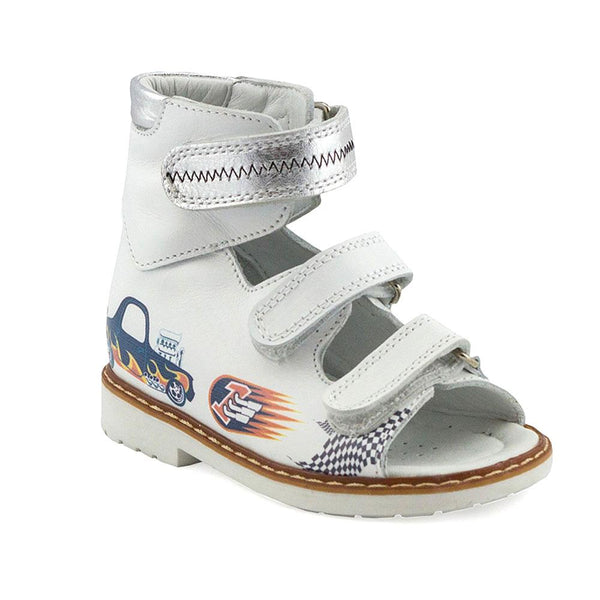Hero Image for CHRIS RUSH white orthopaedic high-top sandals