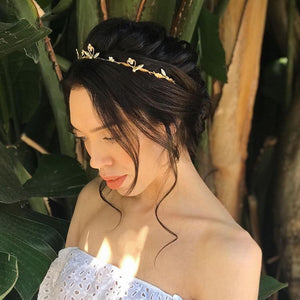 Alice | Gold bridal crown