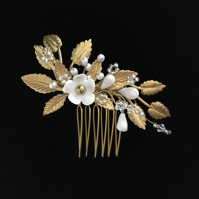 Hannah | Gold hair comb