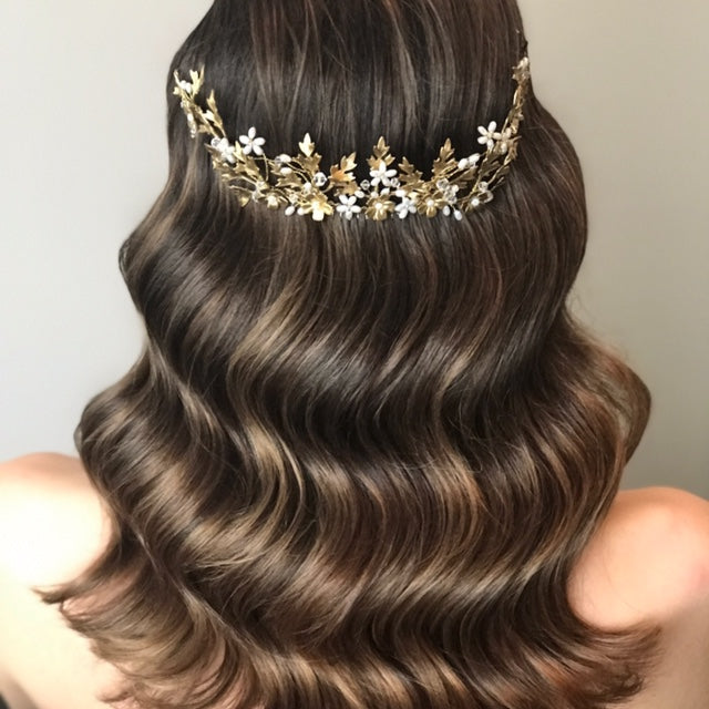 Emilia | Gold hair comb