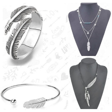 Boho Feather Jewellery
