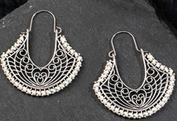 bali love hoop earrings