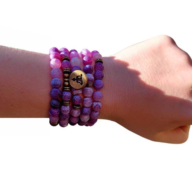 beaded buddha wrap bracelet