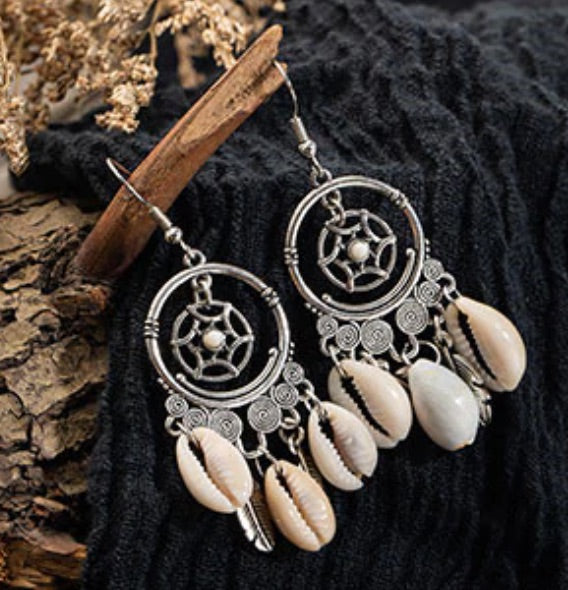 ocean dream catcher earrings