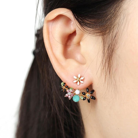Rainbow Bloom Stud Earrings