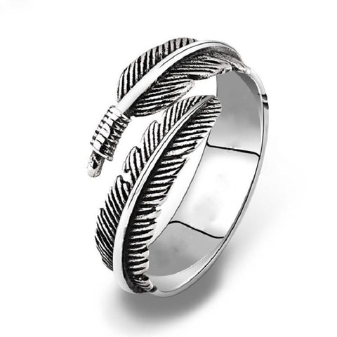 Antique Feather Ring - Adjustable